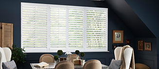 dining room white shutters