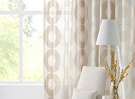 Sheer Curtains with modern pattern lounge room