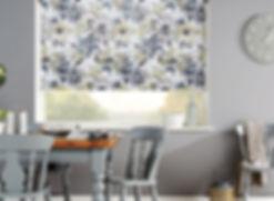 Roller blinds with flower print modern