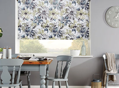 Roller blinds with flower print modern
