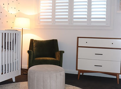 Shutters for Nursery White