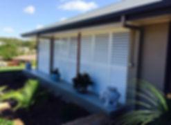 Aluminium shutters outdoor terrace