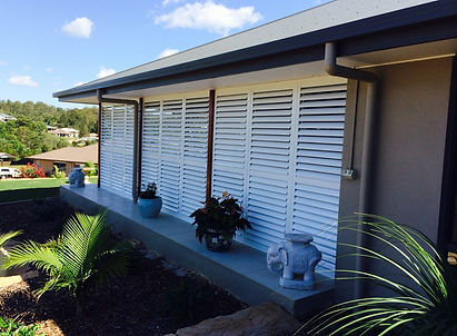 Aluminium shutters outdoor terrace