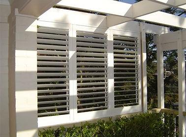 Aluminium shutters in court yard