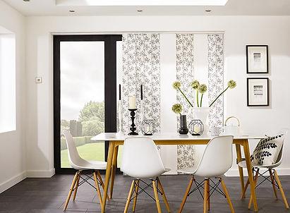 Panel Glides Modern Flower Print Living Room