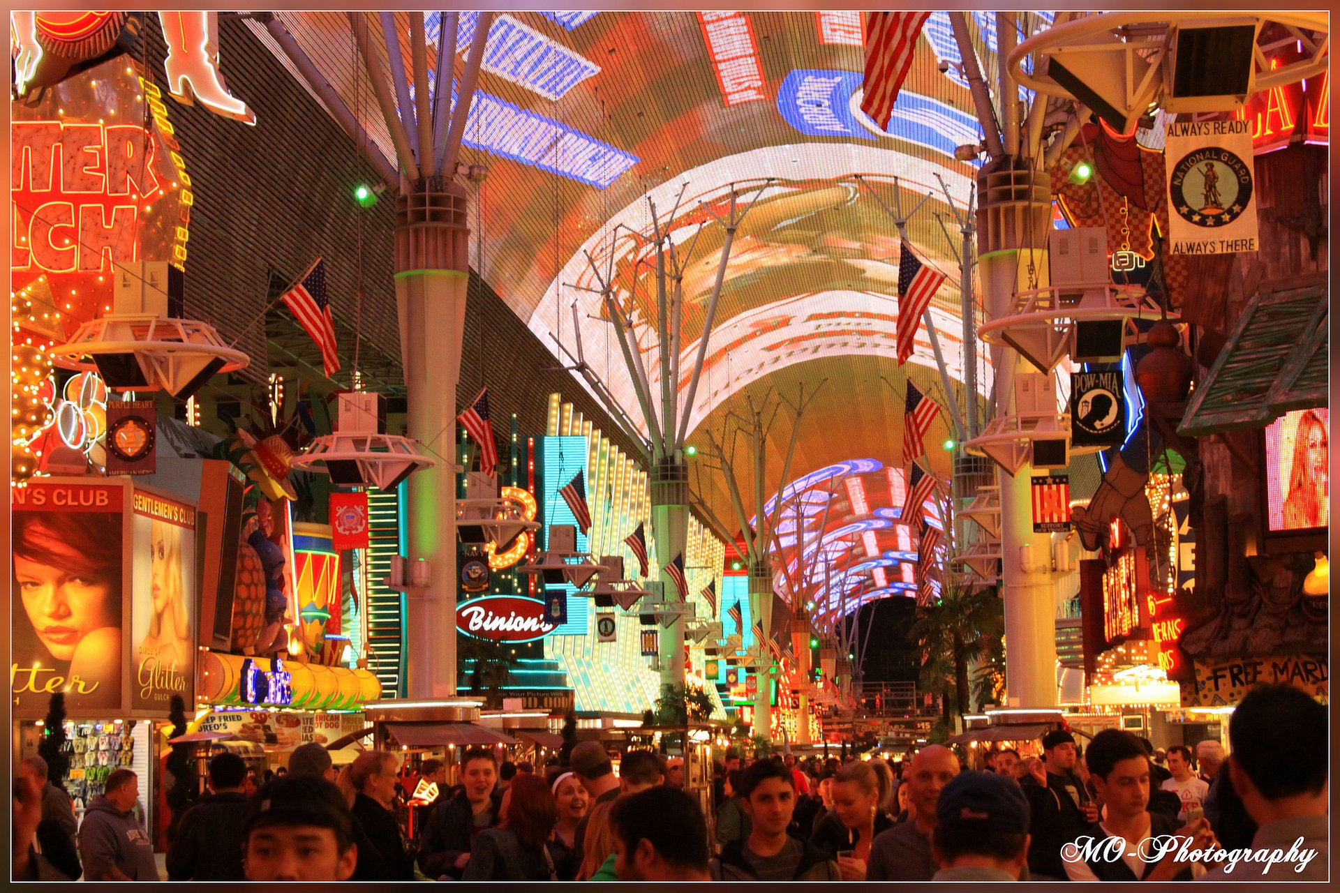 Fremont Street Las Vegas Nevada USA