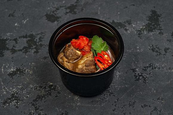 Суп из баранины с белой фасолью и томатами