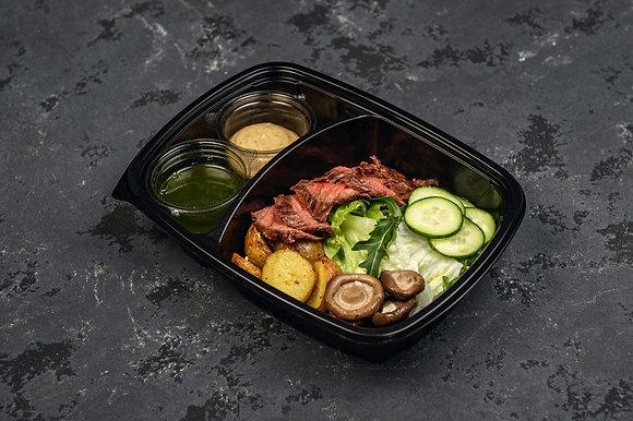 Салат с телятиной и груздями