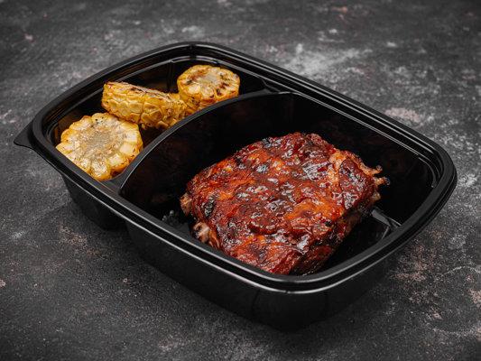 Свиные ребра по-техасски с кукурузой гриль. Стандарт