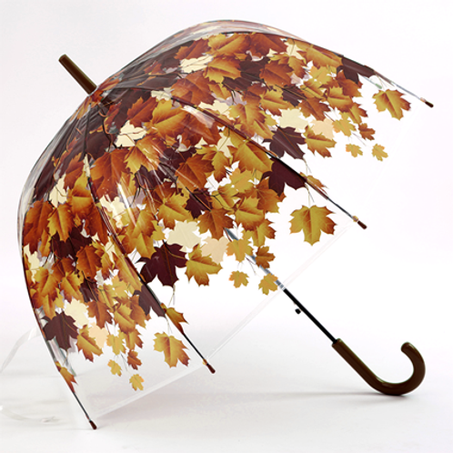 Летние зонты с листьями_коричневый