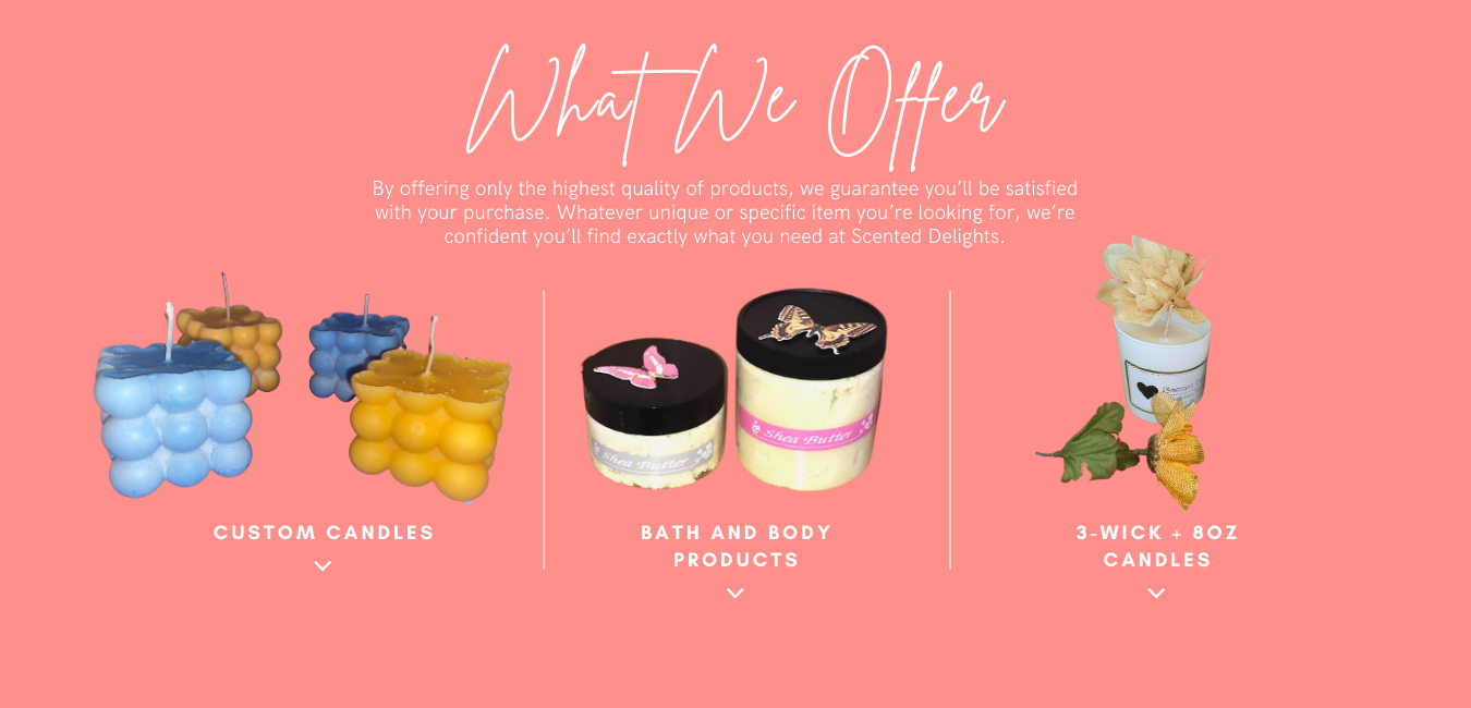 Peach Flat & Minimalist Beauty Website (