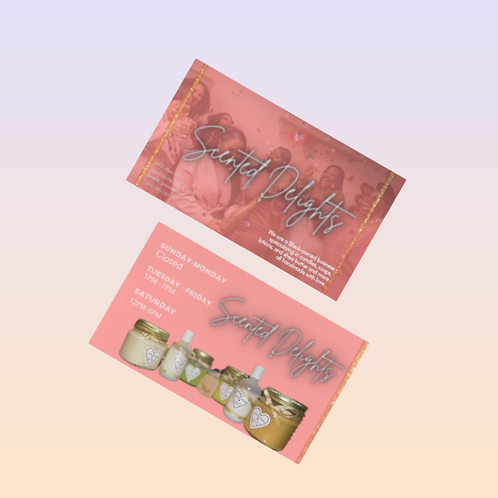 Double Sided Business Card (250ct) - (Design+ Printing)