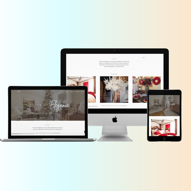 Web Design for Touch of Elegance Interior