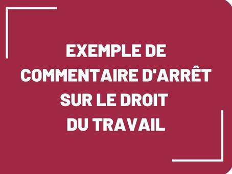 [Commentaire d'arrêt] Exemple en droit du travail : cour d'appel de Montpellier, 25 janvier 2017