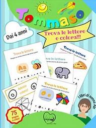Tommaso trova le lettere e colora