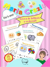 Una caccia alle lettere istruttiva e divertente! Ci sono anche tante pagine da colorare, per prolungare il divertimento! Con sorpresa finale: le vocali da ritagliare per imparare a leggerle!