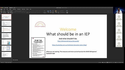 Here are some things not all things that could appear in an IEP,