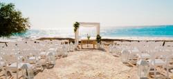 Beach Wedding Setup Blue Apple