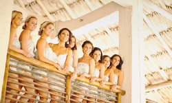 Events Bri Zach Bridesmaids Beach Weddin