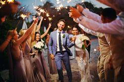 Bride and Groom Beach Wedding Colombia