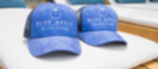 Blue Apple Beach House Caps