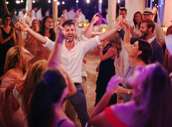 Dance Party Wedding Cartagena Beach