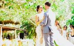 Happy Couple Beach Wedding Colombia