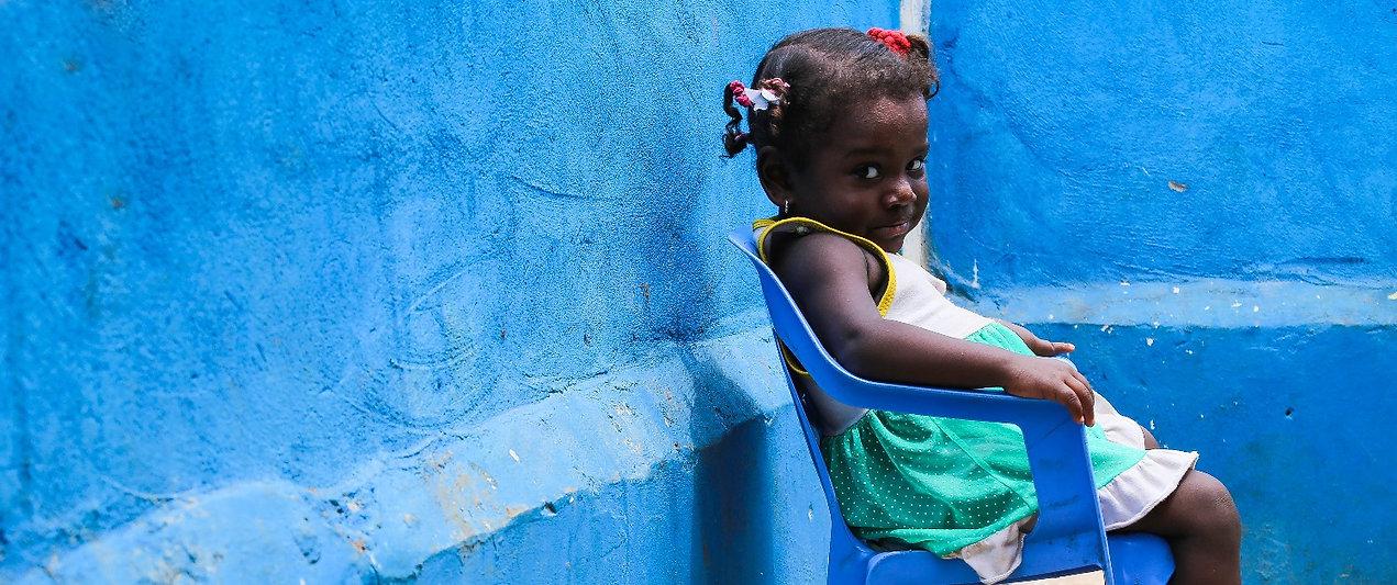Child from Bocachica Village.  Photo by Diana Herrera