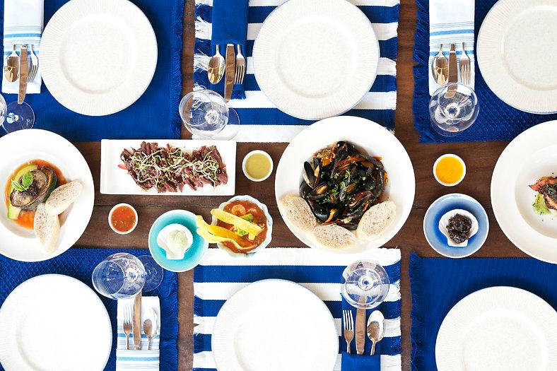 Tasty food at Blue Apple Beach House
