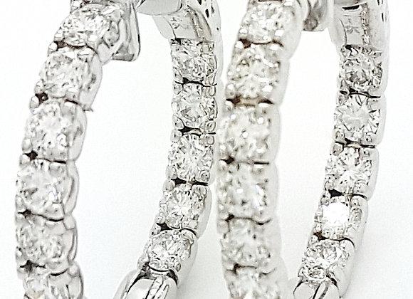 WHITE DIAMOND HOOPS