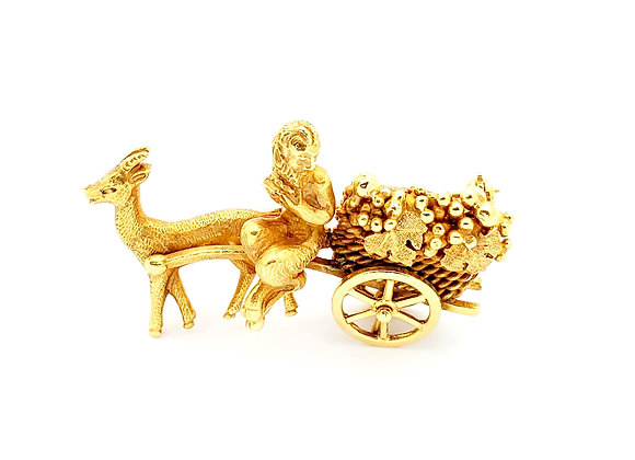 YELLOW GOLD ANTIQUE CARRIAGE PIN