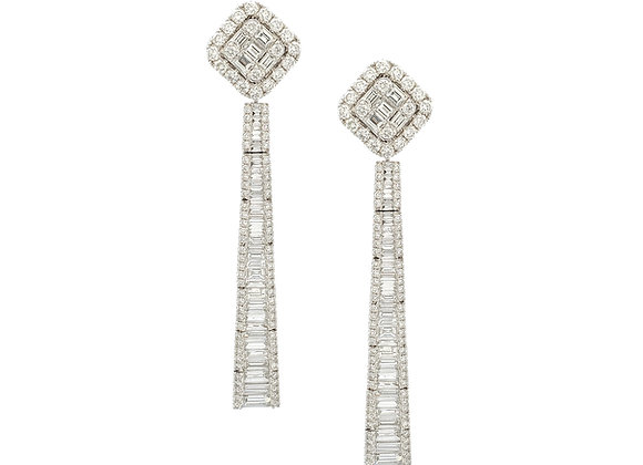 BAGUETTE DIAMOND LONG EARRINGS