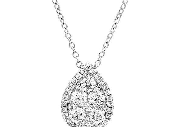 WHITE DIAMOND PEAR SHAPE PENDANT
