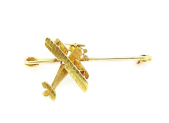 YELLOW GOLD AVIATOR PIN