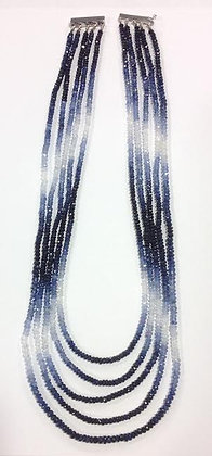 MULICOLOR SAPPHIRE BEADS NECKLACE