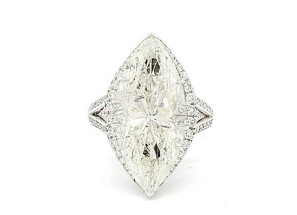MARQUISE WHITE DIAMOND RING