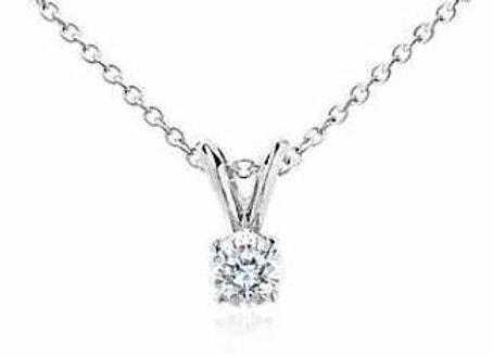 WHITE DIAMOND SOLITAIRE PENDANT
