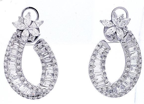 WHITE DIAMOND BAGUETTE EARRINGS