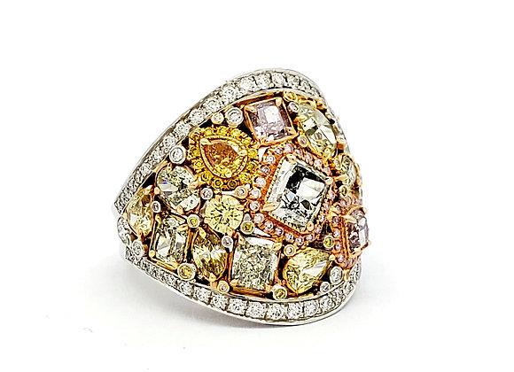 MULTI COLOR FANCY DIAMOND RING