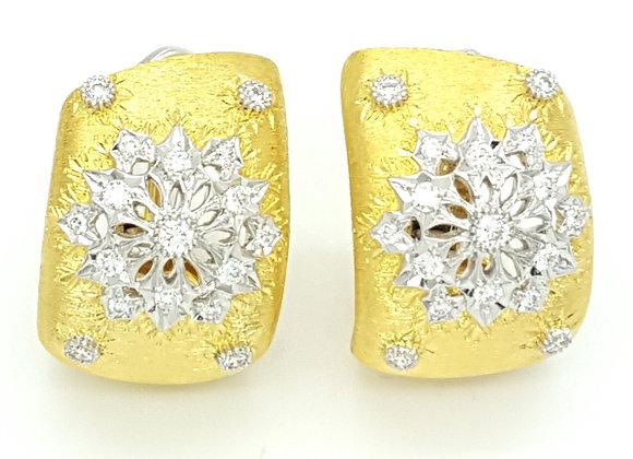 YELLOW GOLD WHITE DIAMOND EARRINGS