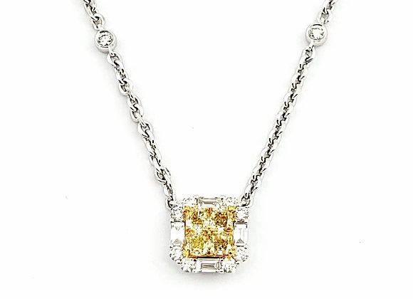 YELLOW BAGUETTE DIAMOND PENDANT
