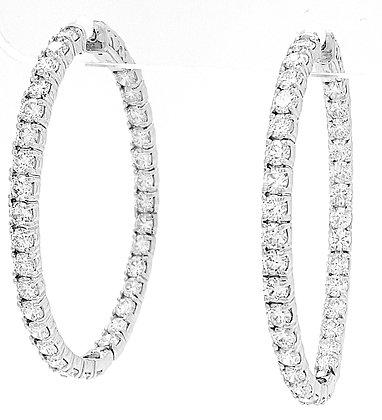 WHITE DIAMOND HOOP EARRINGS