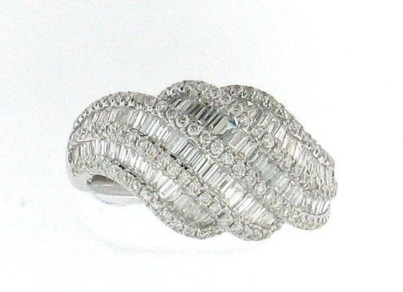 WHITE DIAMOND WAVE RING