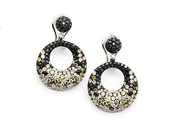 MULTI COLOR DIAMOND EARRINGS