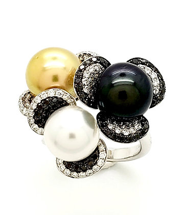 GOLDEN SOUTH SEA AND TAHITIAN PEARL RING