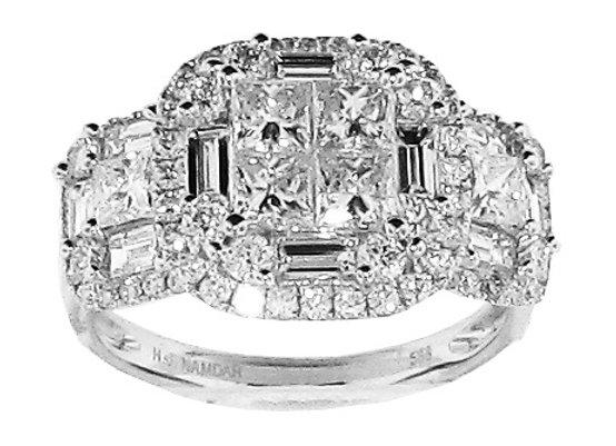 WHITE DIAMOND MATRIX RING