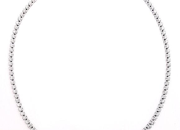 WHITE DIAMOND TENNIS NECKLACE