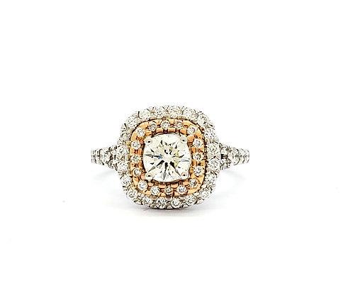 WHITE DIAMOND HALO RING
