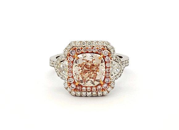 Cushion Cut Fancy Light Pink Diamond Ring