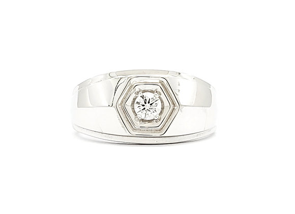 WHITE DIAMOND MENS RING
